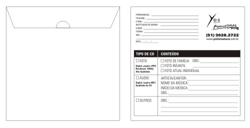 Modelo de envelope - conteúdo misto