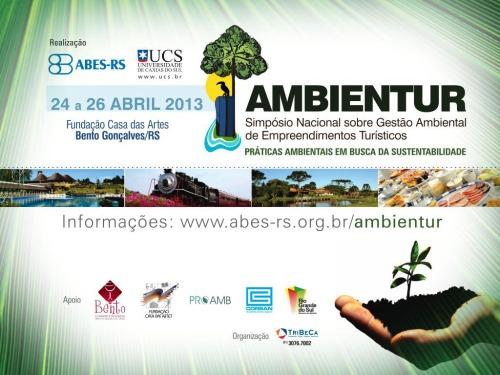 Criação de identidade visual e logotipo para o evento AMBIENTUR 2013