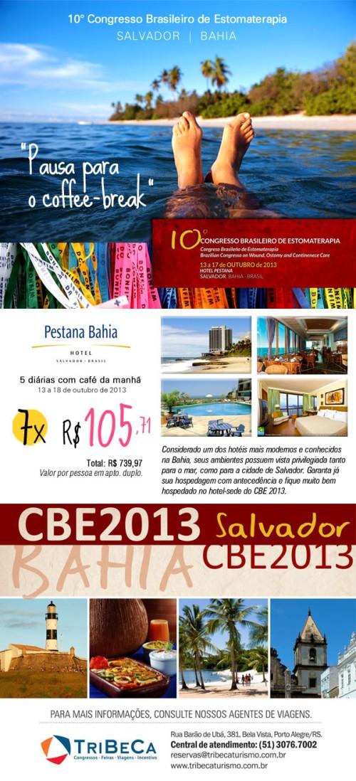 Criação de newsletter de divulgação promocional do pacote de hospedagem durante o evento Congresso Brasileiro de Estomaterapia.