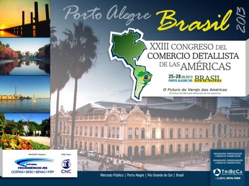 Criação de identidade visual e logotipo para o evento internacional XXIII Congreso del Comercio Detallista de las Americas.